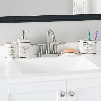 Home Basics 4 Piece Paris Bath Accessory Set : Target