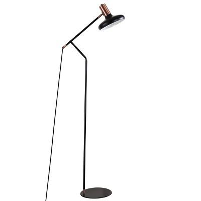 Amia Floor Lamp (Includes LED Light Bulb)Black/Antique Copper - Safavieh