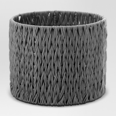 Round Woven Basket Medium Gray - Project 62™