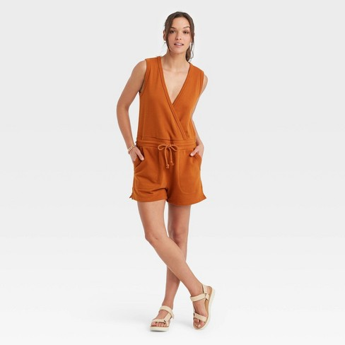 Women's French Terry Sleeveless Romper - Universal Thread™ - image 1 of 3