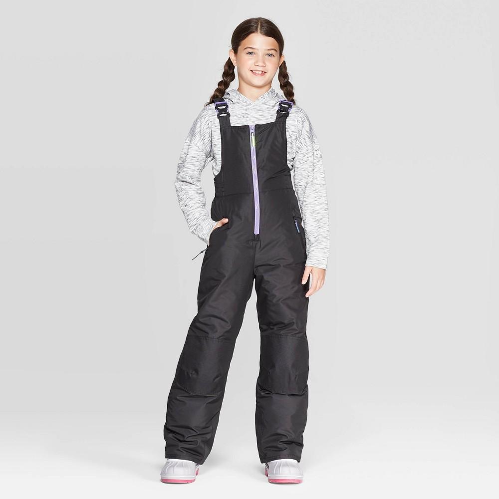 Image of Girls' Snow Bib - C9 Champion Black L, Girl's, Size: Large