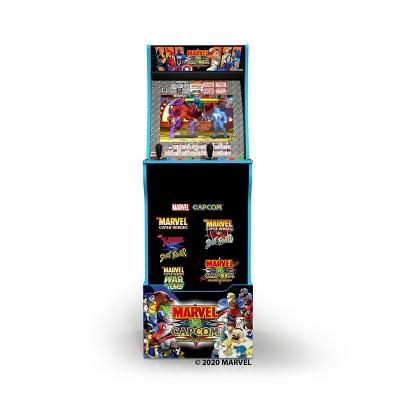 Arcade1Up Marvel vs Capcom with Stool Riser-Lit Marquee