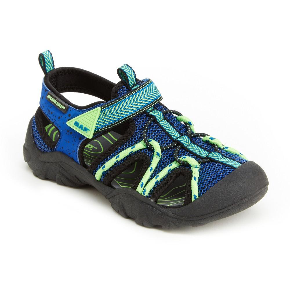 M.A.P. Toddler Boys' Emmon Fisherman Sandals - Blue/Neon 6