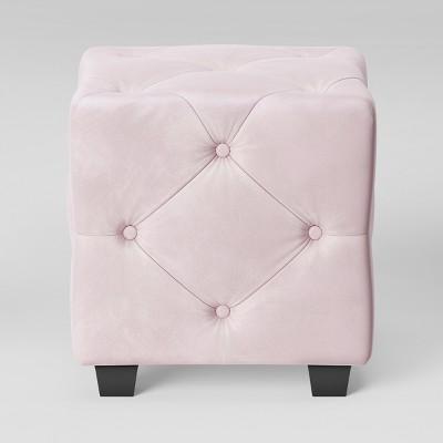 Lark Tufted Ottoman Velvet Blush - Opalhouse™