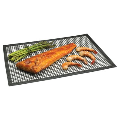 Grill And BBQ Mat Non-Stick 15 x 10.5 Black - Chef's Planet