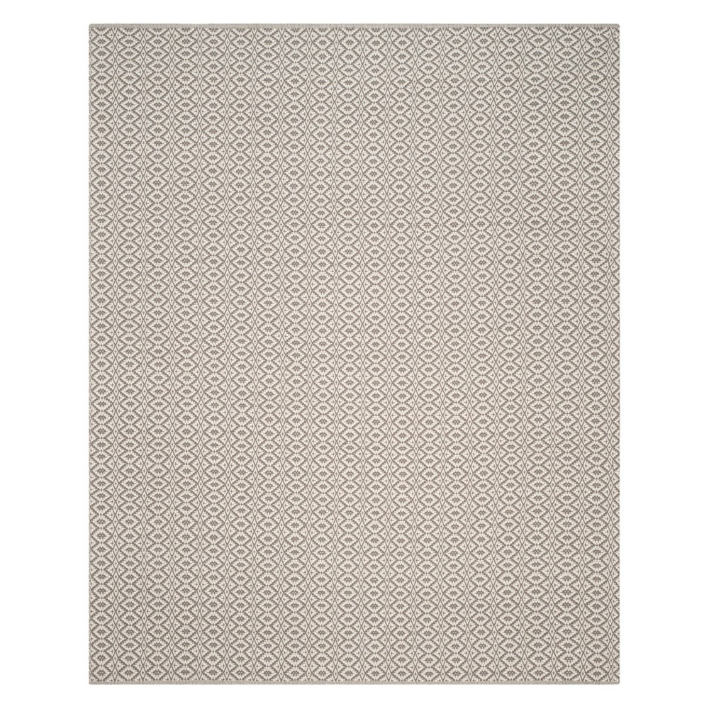 9'X12' Stripe Woven Area Rug Ivory/Gray - Safavieh