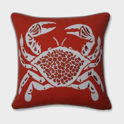 Calvin the Crab Throw Pillow Orange - Pillow Perfect - image 1 of 1