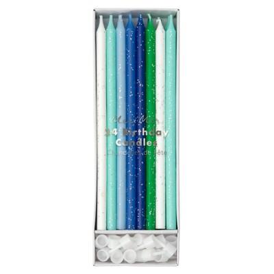 Meri Meri - Blue Candles - Cake Candles - 24ct