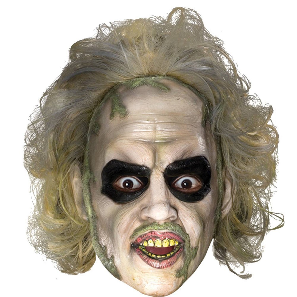 Image of Beetlejuice 3/4 Vnyl Mask With Hair