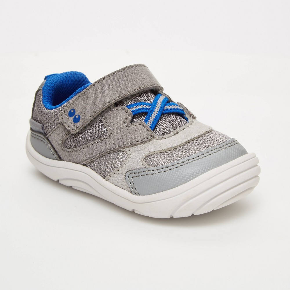 Image of Baby Boys' Surprize by Stride Rite Chase Sneakers - Gray 3, Toddler Boy's, Blue Gray