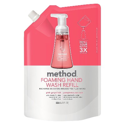 Method Foaming Hand Soap Refill Pink Grapefruit 28oz