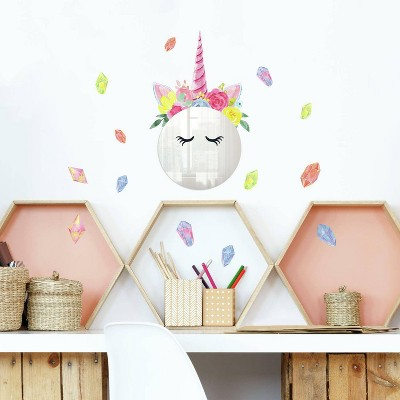 Floral Unicorn Mirror Wall Decal - RoomMates