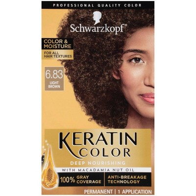 Schwarzkopf Keratin Color Light Brown Permanent Hair Color - 6.2oz