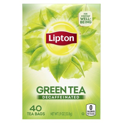 Lipton Decaffeinated Green Tea - 40ct