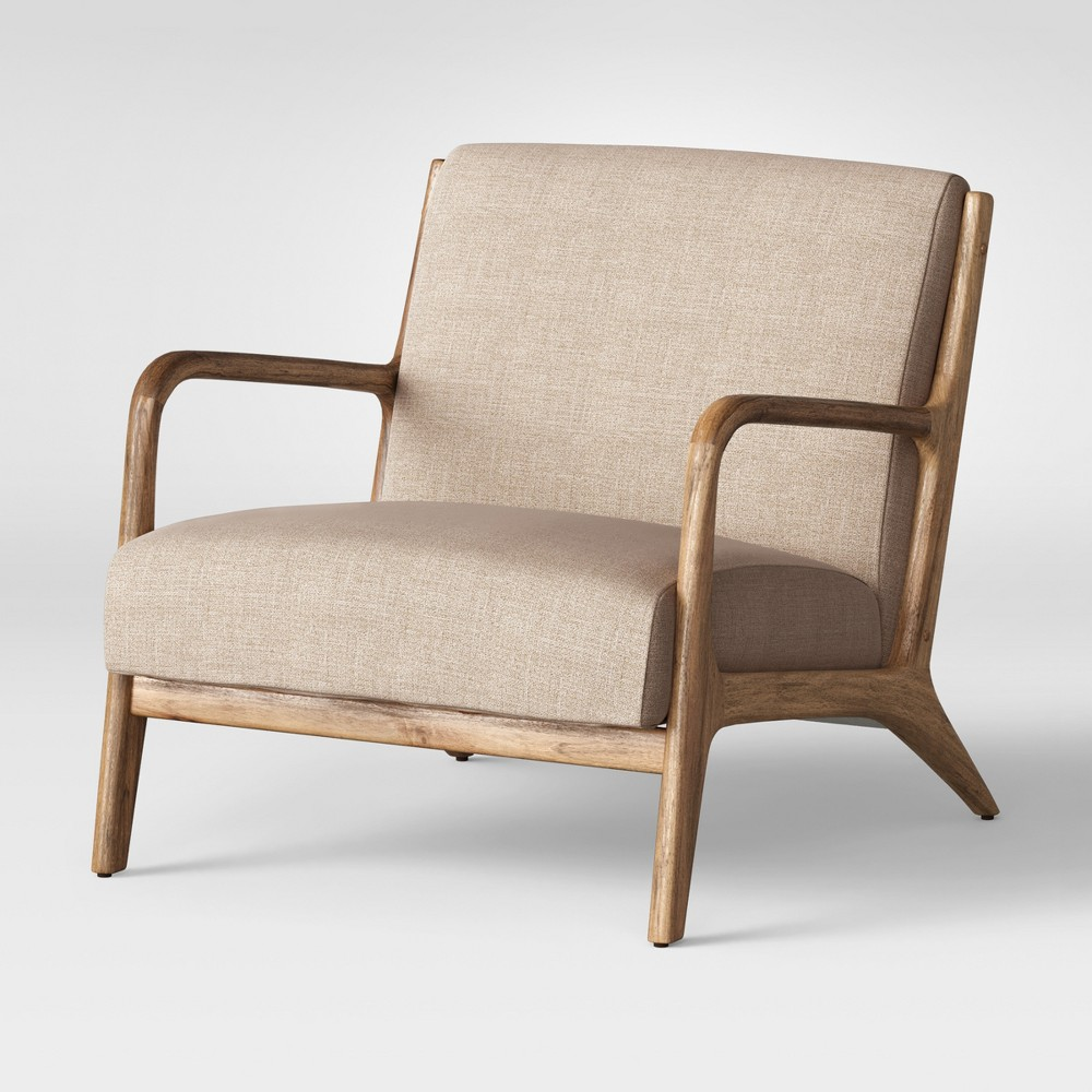 Esters Wood Arm Chair - Light Beige - Project 62