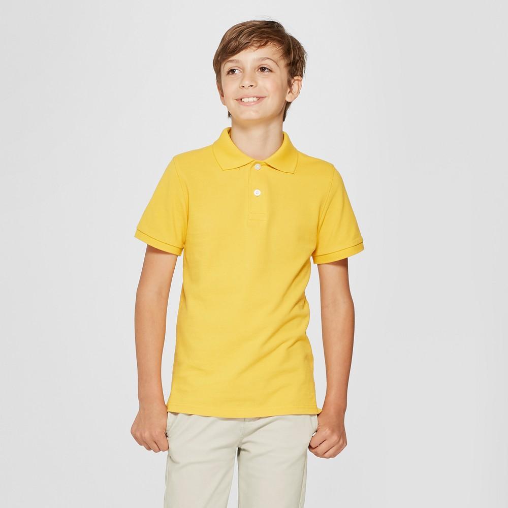 Boys' Short Sleeve Pique Uniform Polo Shirt - Cat & Jack Yellow S
