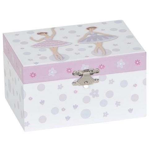Mele & Co.® Jeannie Girls' Musical Ballerina Jewelry Box - White/Purple - image 1 of 5