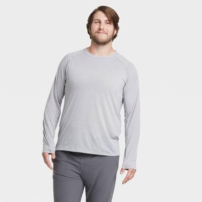 Men's Long Sleeve Run T-Shirt - All in Motion™ Light Gray L