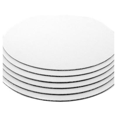 "Fredrix Value Series Cut Edge Canvas Panels, White, 12"" Round - 6pk"
