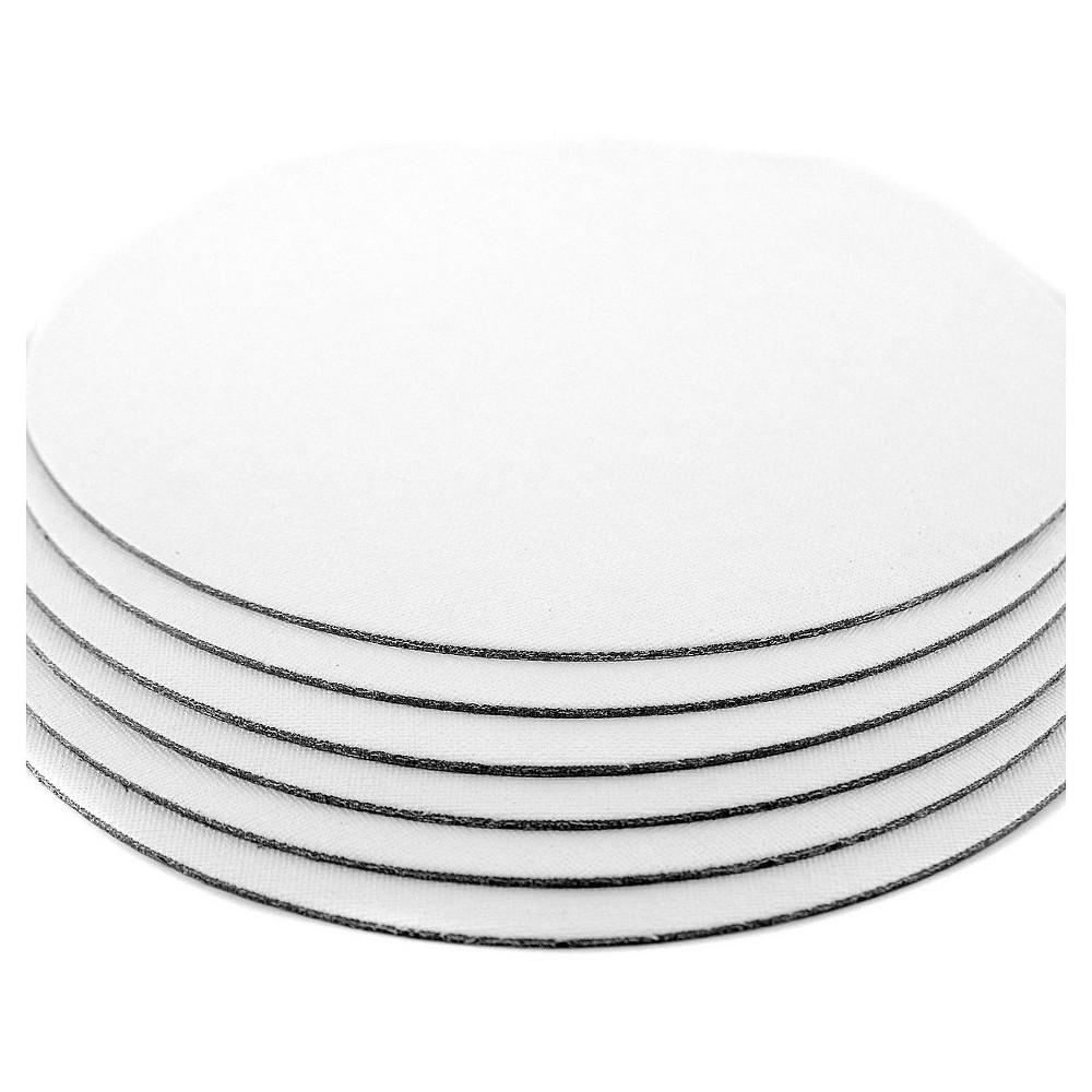 Fredrix Value Series Cut Edge Canvas Panels, White, 12 Round - 6pk