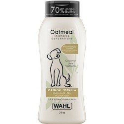 Wahl Oatmeal Formula Coconut Lime Verbena Pet Shampoo Concentrate 24 oz