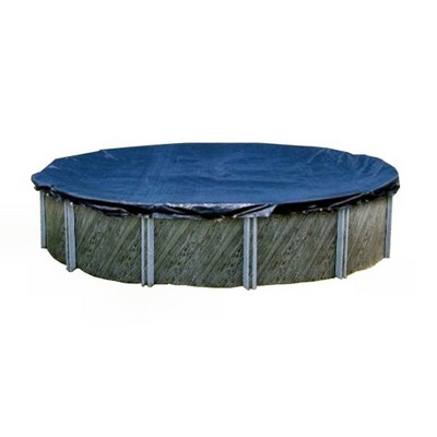 Swimline PCO1432 28' Round Above Ground Silver King Swimming Pool Cover with Included 4' Overlap and Tie Down Ropes, (Pool Cover Only)