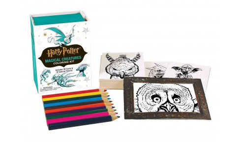 Harry Potter Magical Creatures Coloring Kit (Paperback) (J.K. Rowling) - image 1 of 1