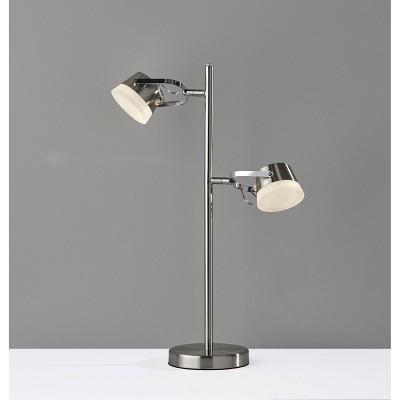Nitro Desk Lamp (Includes LED Light Bulb) Silver - Adesso