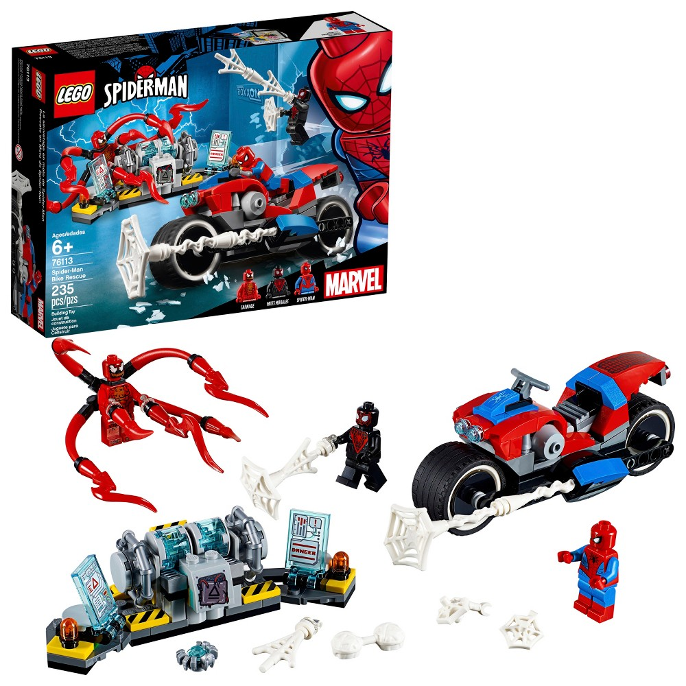 LEGO Super Heroes Marvel Spider-Man Bike Rescue 76113
