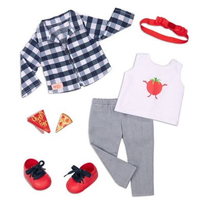"""Our Generation Pizza Fashion Outfit for 18"""" Dolls - Head To-Ma-Toes"""