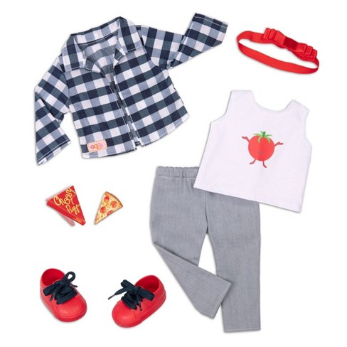 """Our Generation Pizza Fashion Outfit for 18"""" Dolls - Head To-Ma-Toes - image 1 of 3"""
