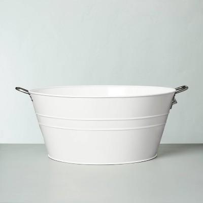 Galvanized Steel Beverage Tub White - Hearth & Hand™ with Magnolia
