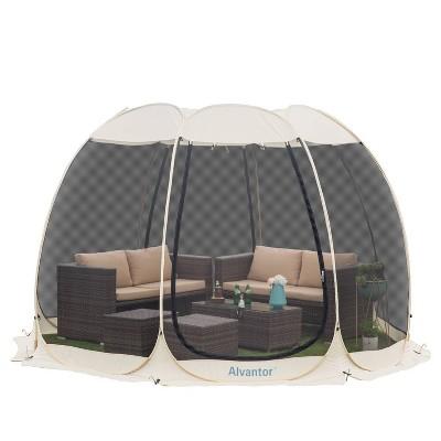 12' x 12' Pop Up Portable Gazebo Screen Tent - Alvantor