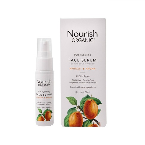 Nourish Organic Pure Hydrating - Apricot & Argan Face Serum - 0.7 fl oz - image 1 of 3