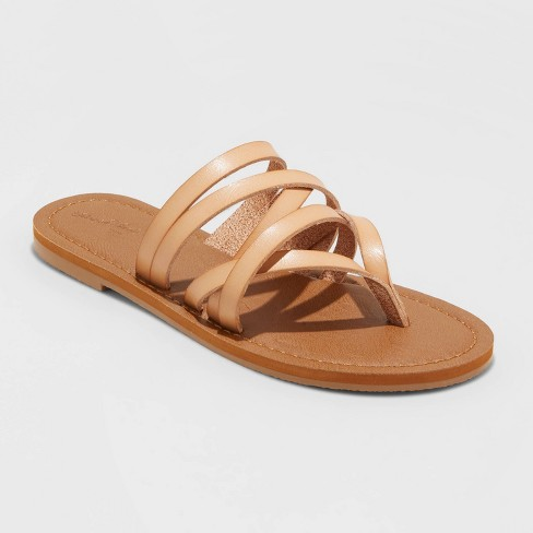 Women's Maritza Multi Strap Toe Slide Sandals - Universal Thread™ - image 1 of 3
