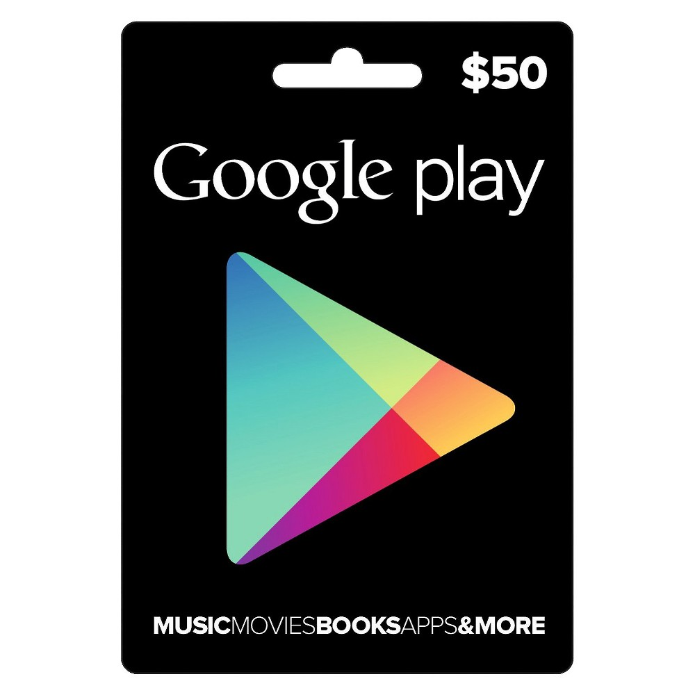 Google Play $50, gaming gift cards
