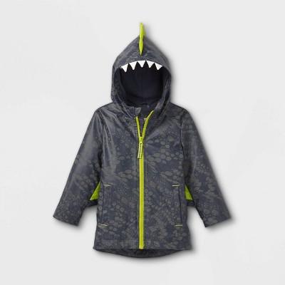 Toddler Boys' Monster Wing Rain Coat - Cat & Jack™ Gray