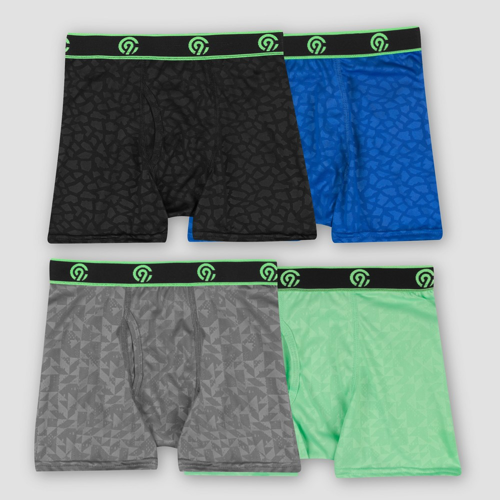 Image of Boys' 4pk Embossed Poly Boxer Briefs - C9 Champion L, Boy's, Size: Large, MultiColored