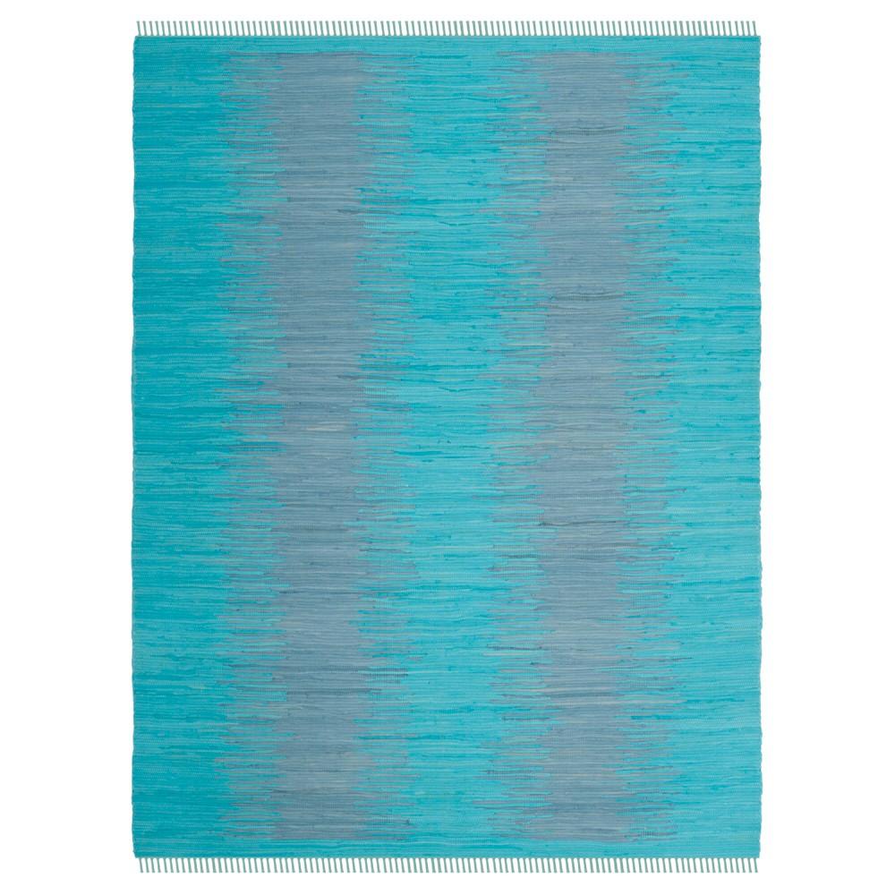 Turquoise Geometric Flatweave Woven Area Rug 8'X10' - Safavieh