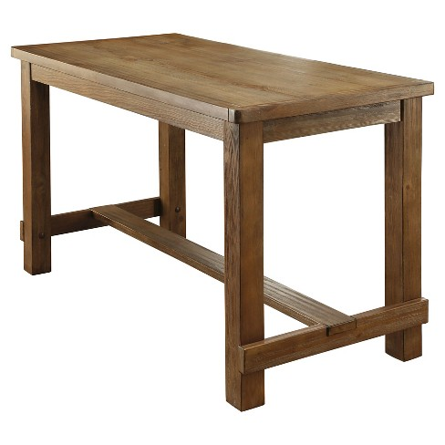 Sun Pine Eliza Rustic Counter Height Table Natural Tone