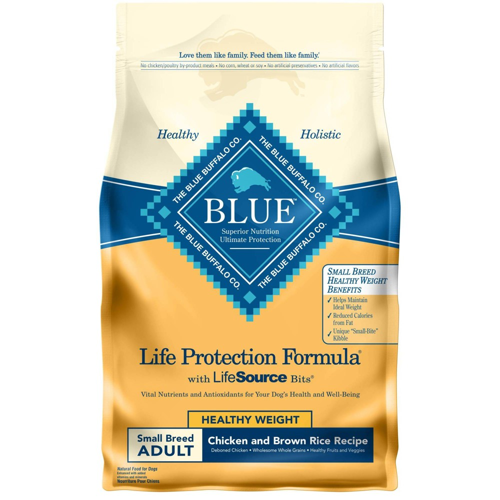 Blue Buffalo Life Protection Healthy Weight Chicken 38 Brown Rice Recipe Small Breed Adult Dry Dog Food 6lbs