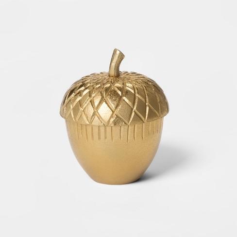 Decorative Acorn Box - Gold - Threshold™ - image 1 of 1