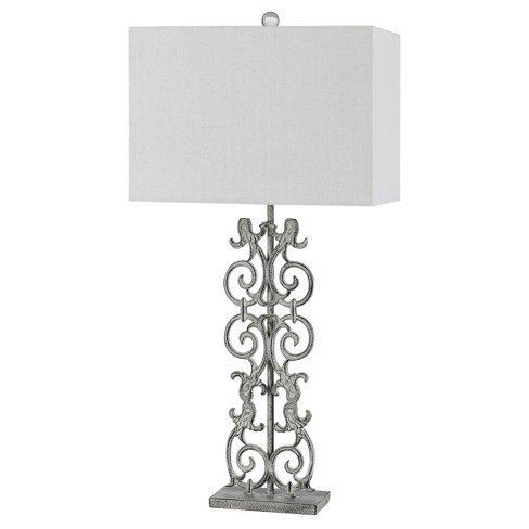 Way Vitoria Cast Iron Table Lamp With Hardback Fabric Shade 150w 3