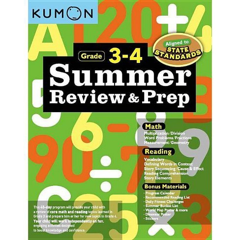 Summer Review and Prep 3-4 - (Paperback) - image 1 of 1