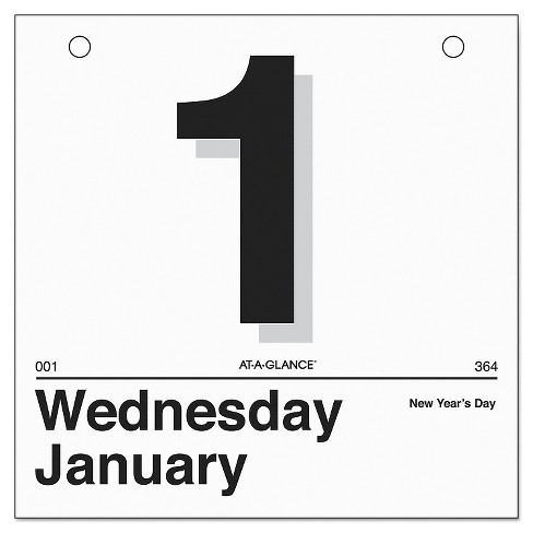 "AT-A-GLANCE® ""Today Is"" Daily Wall Calendar Refill, 6 x 6, White, 2017 - image 1 of 1"