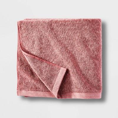 Slub Accent Organic Bath Towel Blush - Casaluna™