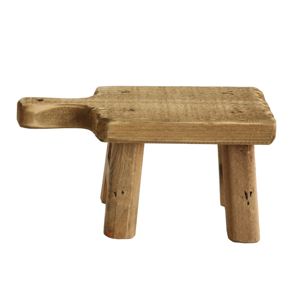 "Image of ""Wood Pedestal (4.75"""") - 3R Studios, Brown"""