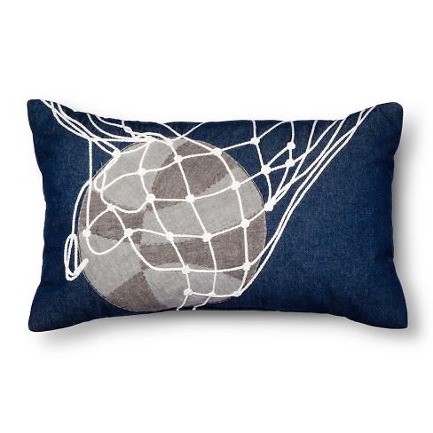 "Basketball Throw Pillow - 20""x12"" - Gray - Pillowfort™ - image 1 of 1"