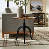 Round Wood End Table with Adjustable Height Brown - Threshold™ designed with Studio McGee - image 2 of 4