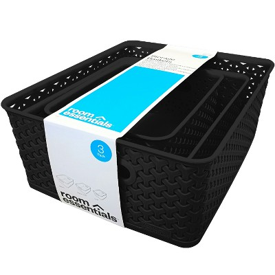 Cube Storage Box Black - Room Essentials™
